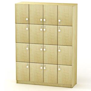 Сумочный шкаф на 16 ячеек 128*40