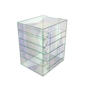 Стеклянный куб витрина импульсная
