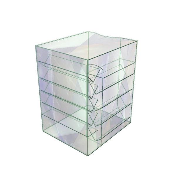 Стеклянный куб витрина